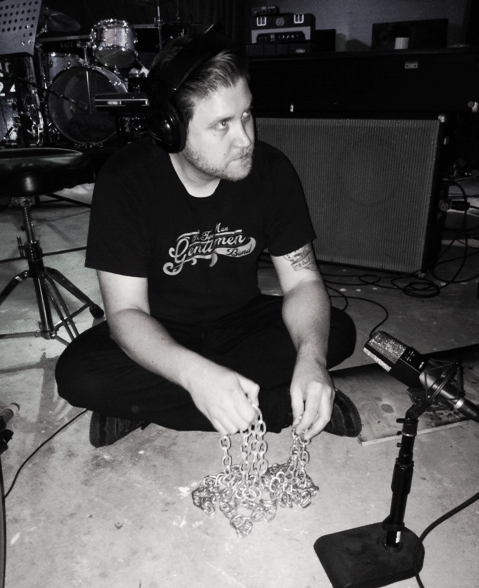 Jon trying to perfect the chain sound