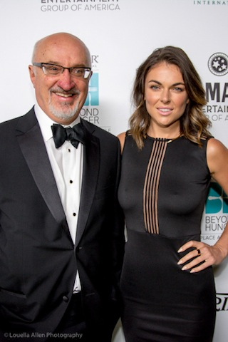 Heifer International's CEO Pierre Ferrari and Serinda Swan © Louella Allen for Heifer International