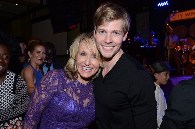 Hope for Humans President and Co-Founder Suzanne Gazda with Hunter Parrish