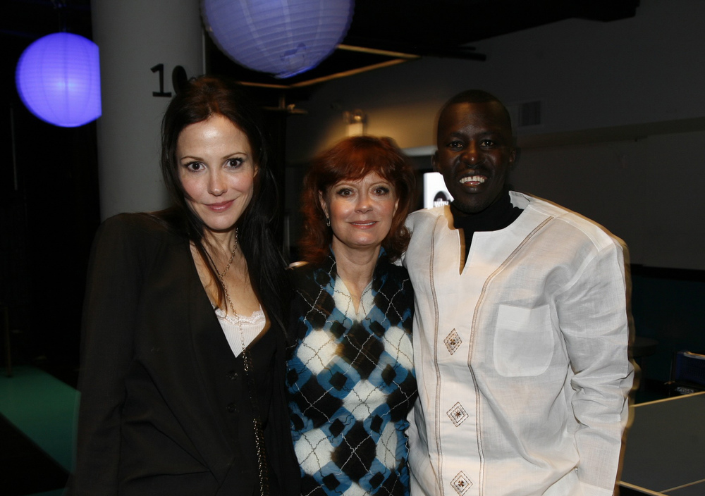 Ping-Pong Ball hosts Mary-Louise Parker and Susan Sarandon with Hope North founder Okello Sam