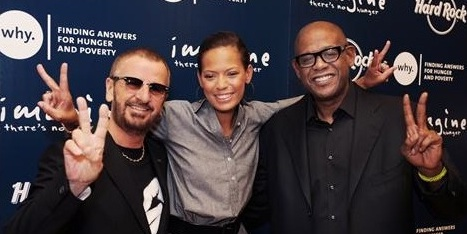 Ringo Starr, Forest and Keisha Whitaker at WHY:Hard Rock campaign launch (2010).jpg