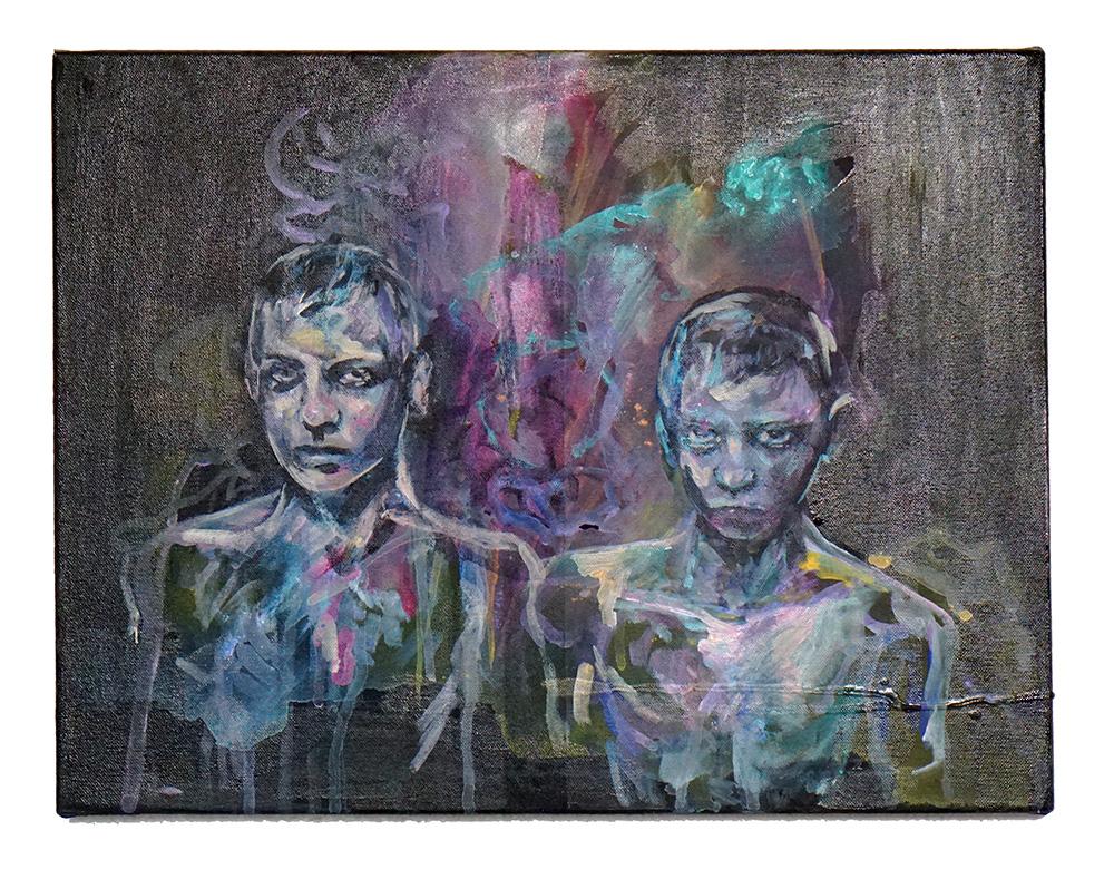 Ibeji - Acrylic on canvas, 8in x 10in