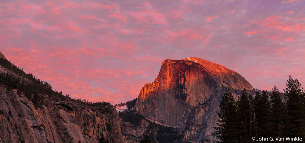 Alpenglow and Half Dome