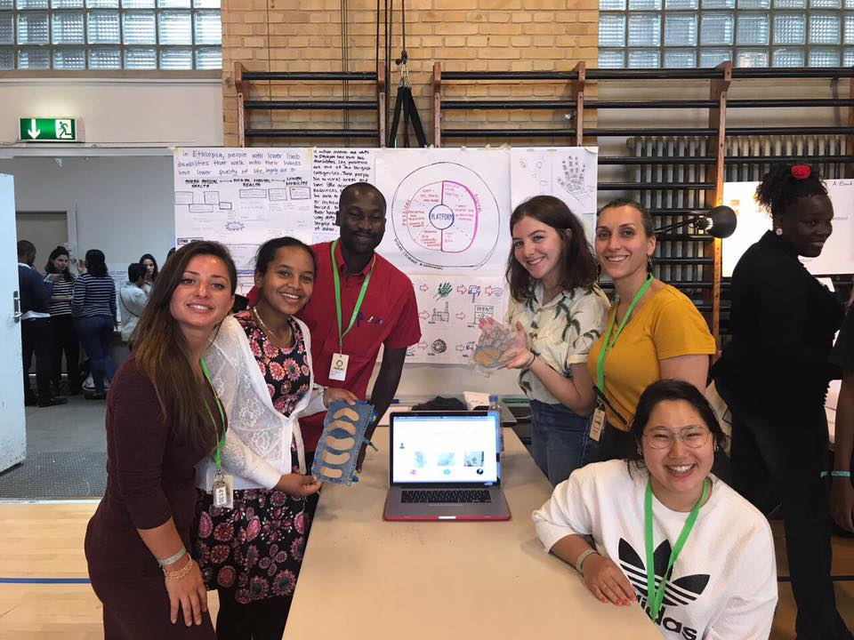 Meet the Team!   - Molly Bonnell, Eric Biguyi, Gavantsa Khizanishvili, Maria Smolar, Katalina Park, & Maereg WagnewTogether, Project DIG (Designing Inclusive Garments), was created to meet the UN SDGs. 1000 talents, from around the world, were selected to participate in a two-week innovation lab in Denmark where participants would ideate, brainstorm, prototype, test, and pitch their solutions to a panel of judges from UNICEF, the Carlsberg Foundation, Prime Minister of Denmark, and so on. UNLEASH DENMARK