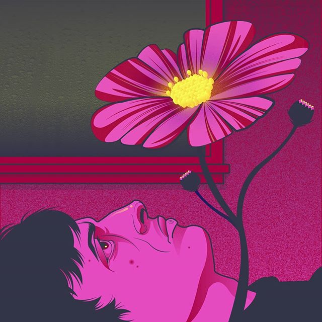 Can't sleep won't sleep. Made the working file rig-worthy so animation coming soon 💤 . #vector #adobeillustrator #vectorart #insomia #drawing #art #illustration #artist #flowers #pink #personal #gpoy #animation #adobe