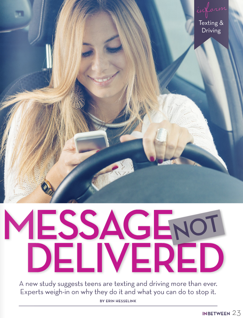 "Picture of article cover from INBETWEEN Magazine of article ""Message Not Delivered"" by Erin Hesselink"