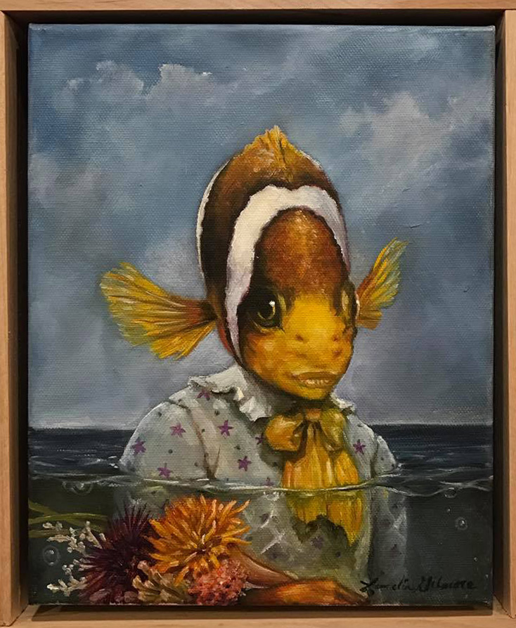 "Sea Prairie by Laurelin Gilmore. 9"" x 11"" framed, oil on canvas. $200"