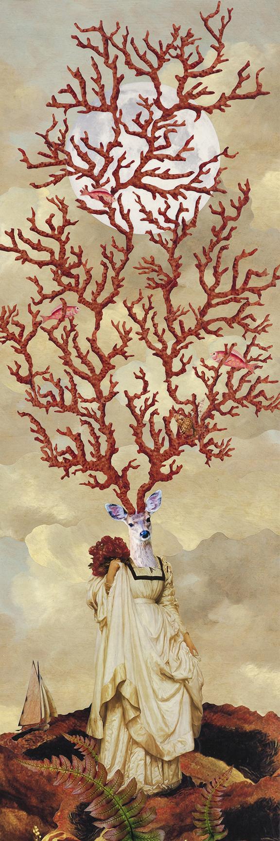 Dear Sea Deer —fine art print from original collage