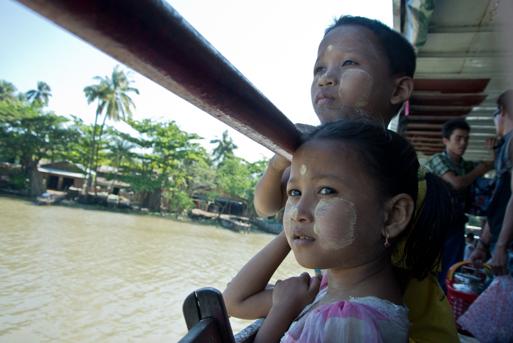 On the boat to Pathein in the Ayeyarwady Region, November 2012.