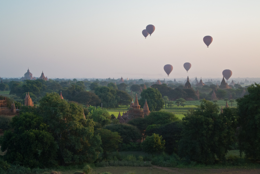 Early morning in Bagan, November 2012.