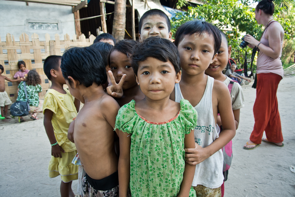 Children in Chaungtha, November 2012.