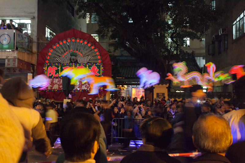 Chinese New Year celebrations in Tai Kok Tsui, Hong Kong, January 2012.