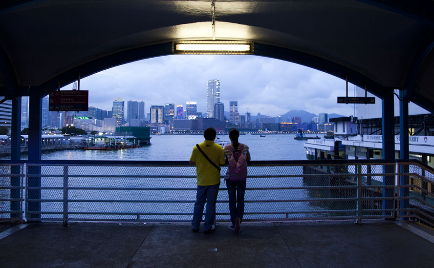 Wanchai ferry pier, August 2011.