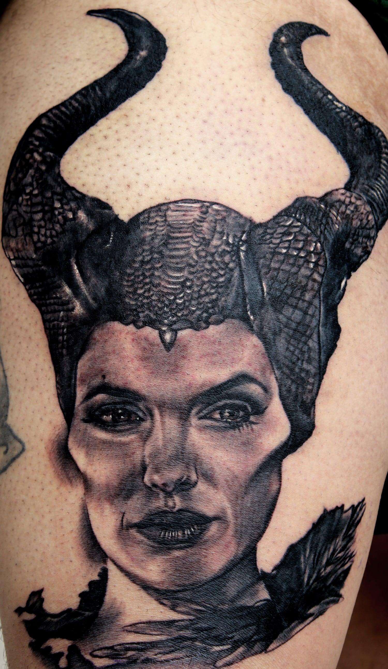 Maleficent Cardinal Tattoo