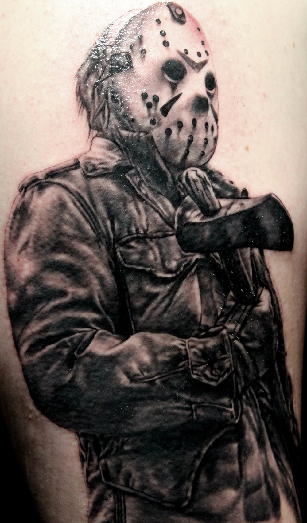 This Jason Voorhees Is The First Of A Slasher Movie Sleeve By Will He Also Started Michael Myers Portrait Next To But Didnt Get Far Enough Along