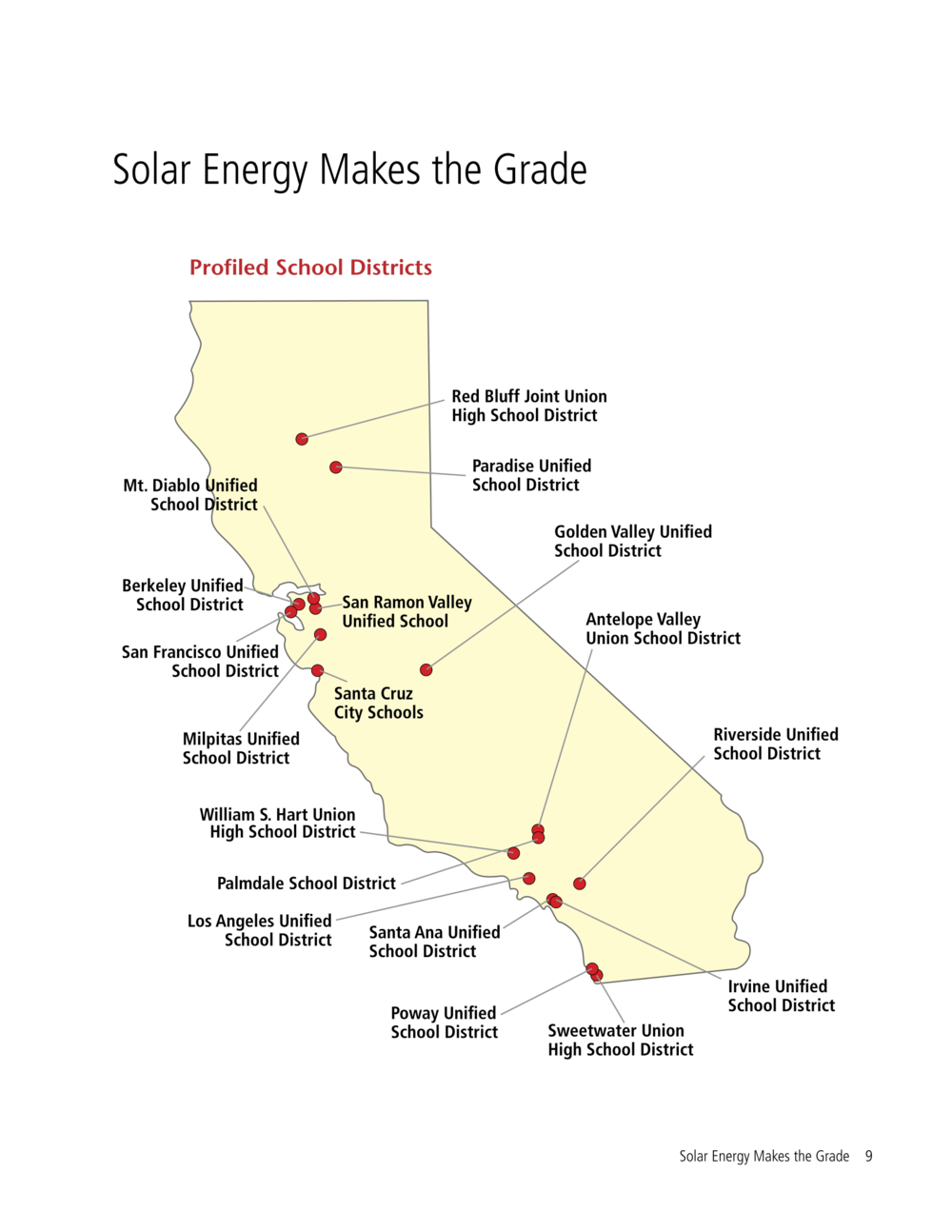 Image by Environment California Research & Policy Center (does not include all districts w/ solar)