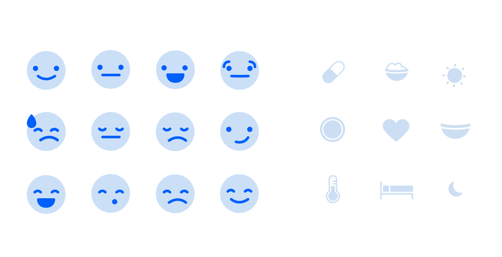 Iconography exploration for Feelings and Explanations: