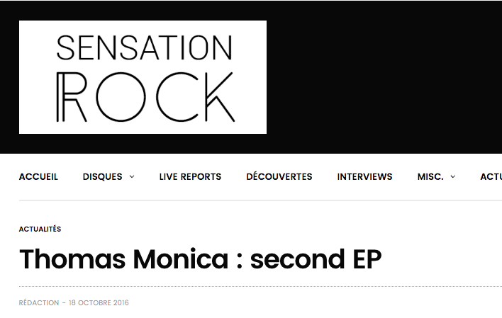 THOMAS MONICA SUR SENSATION ROCK
