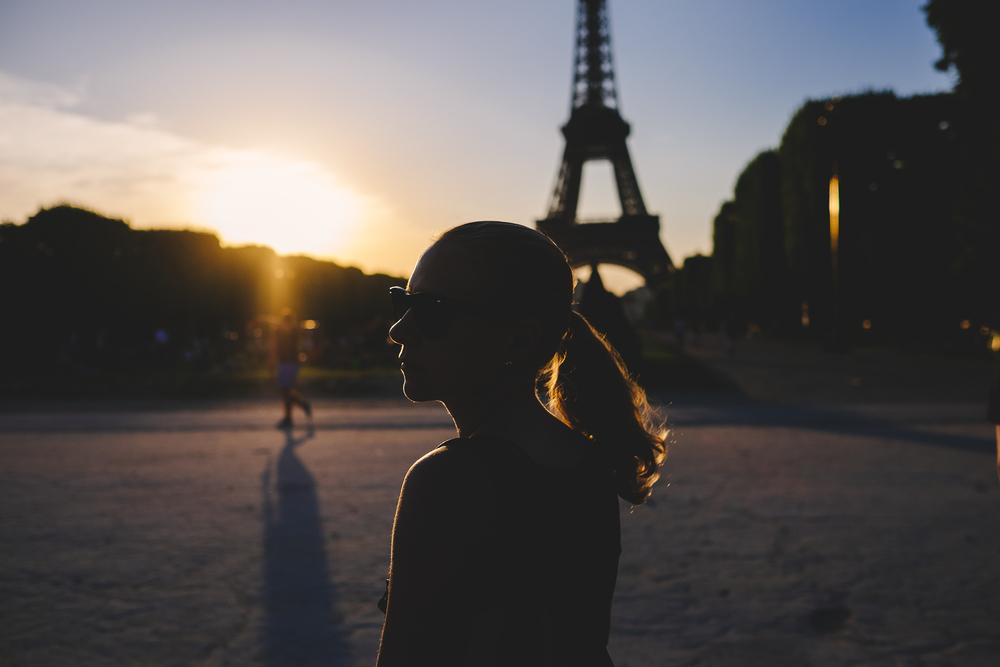 Sunset over Eiffel Tower, Paris