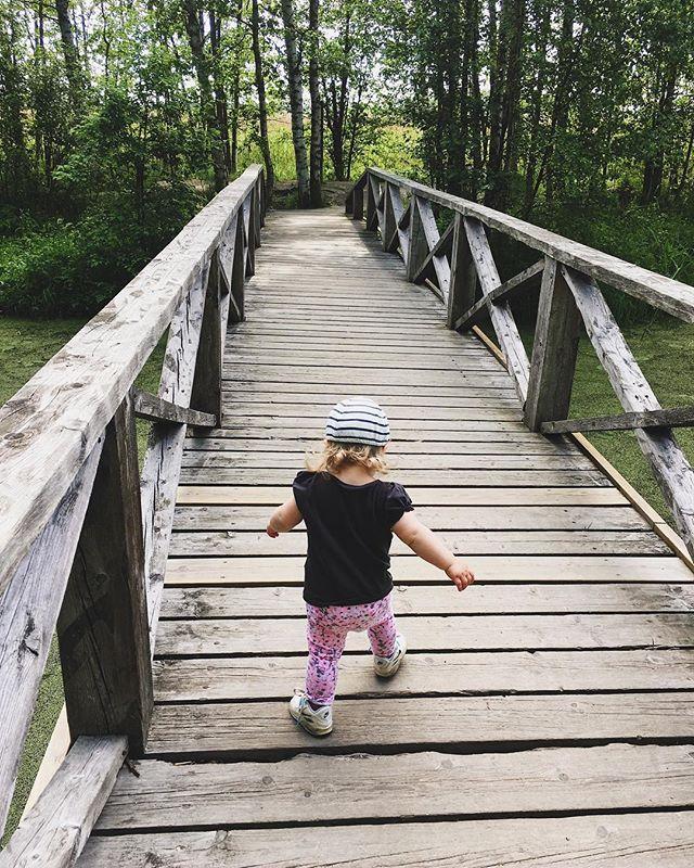 Crossing bridges.
