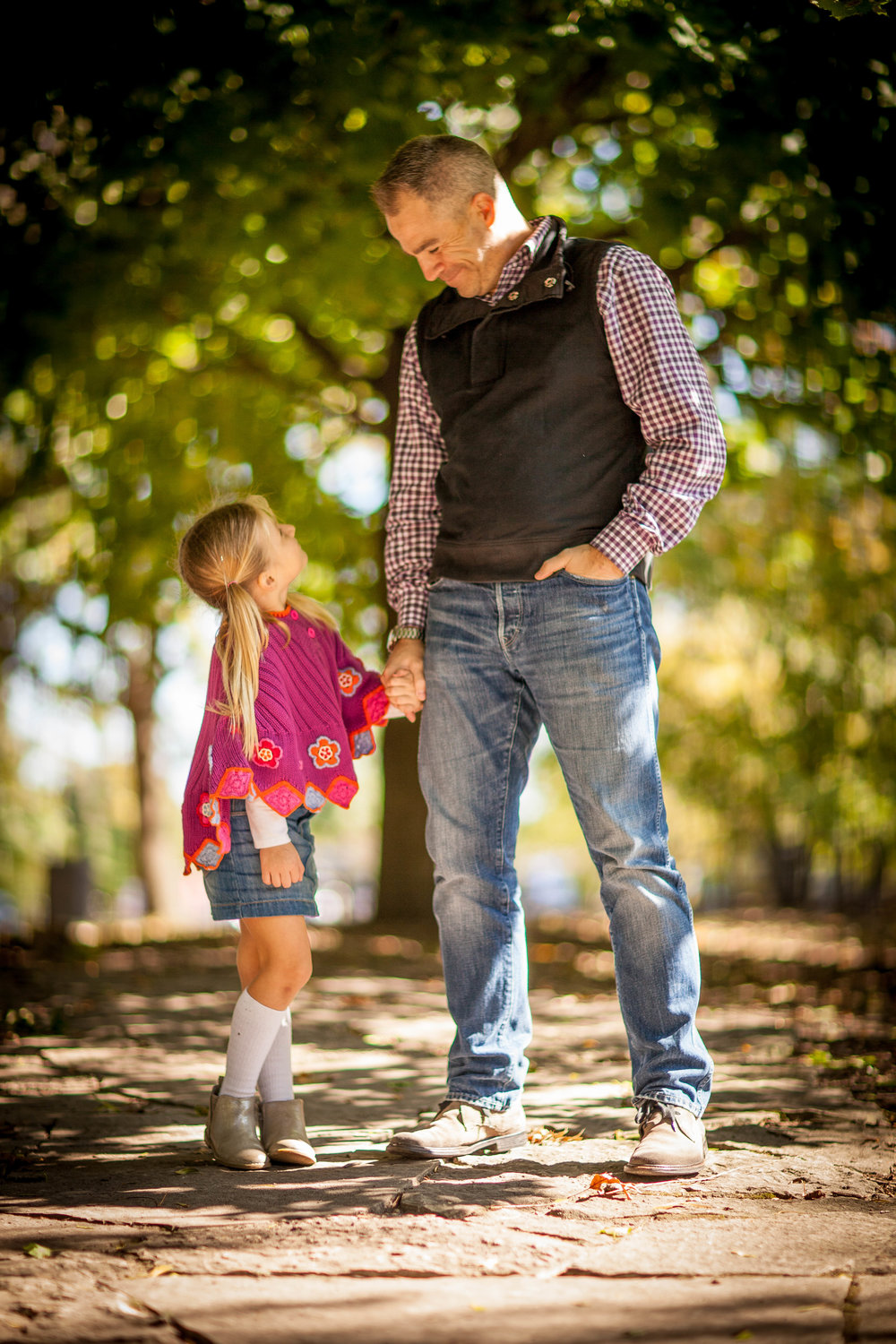 Daddy Daughter Fall Portrait
