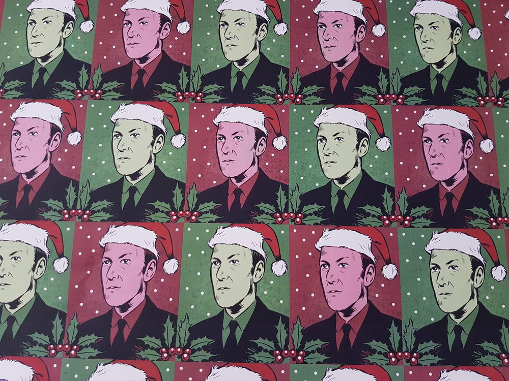 H.P Lovecraft Festive Wrapping Paper