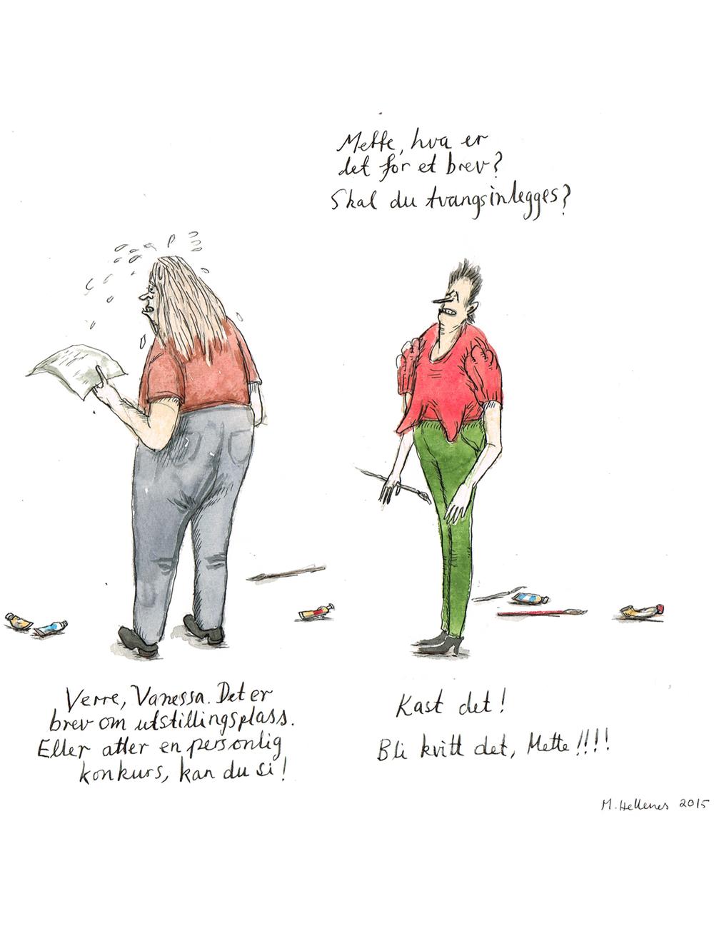 Mette Hellenes sitt kunstneriske bidrag til kampanjen #utstillingsavtalen.