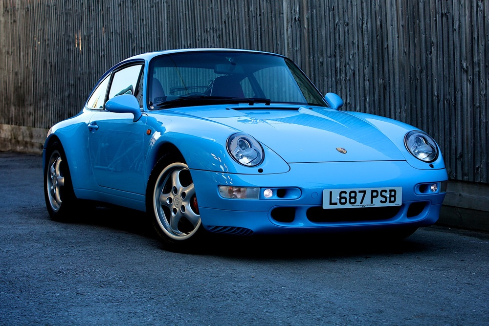 Resprayed Porsche 993 Riviera Blue Coupe