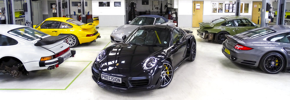 outside view of Precision Porshe