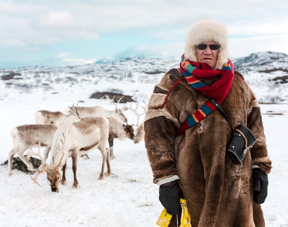 Reindeer herder Alf Johansen