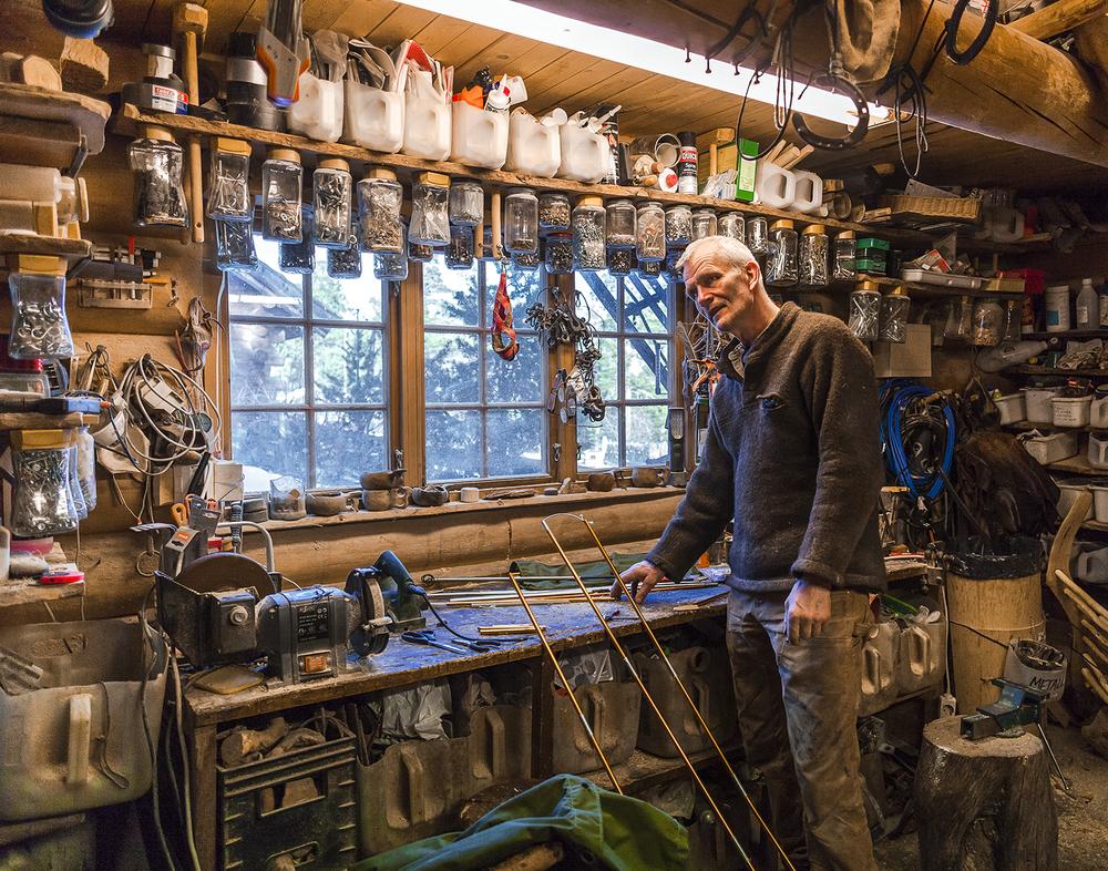 Sven Engholm in his workshop