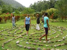A labyrinth symbolises the unity and direction of those who wish to work together to find a common purpose in sustainability