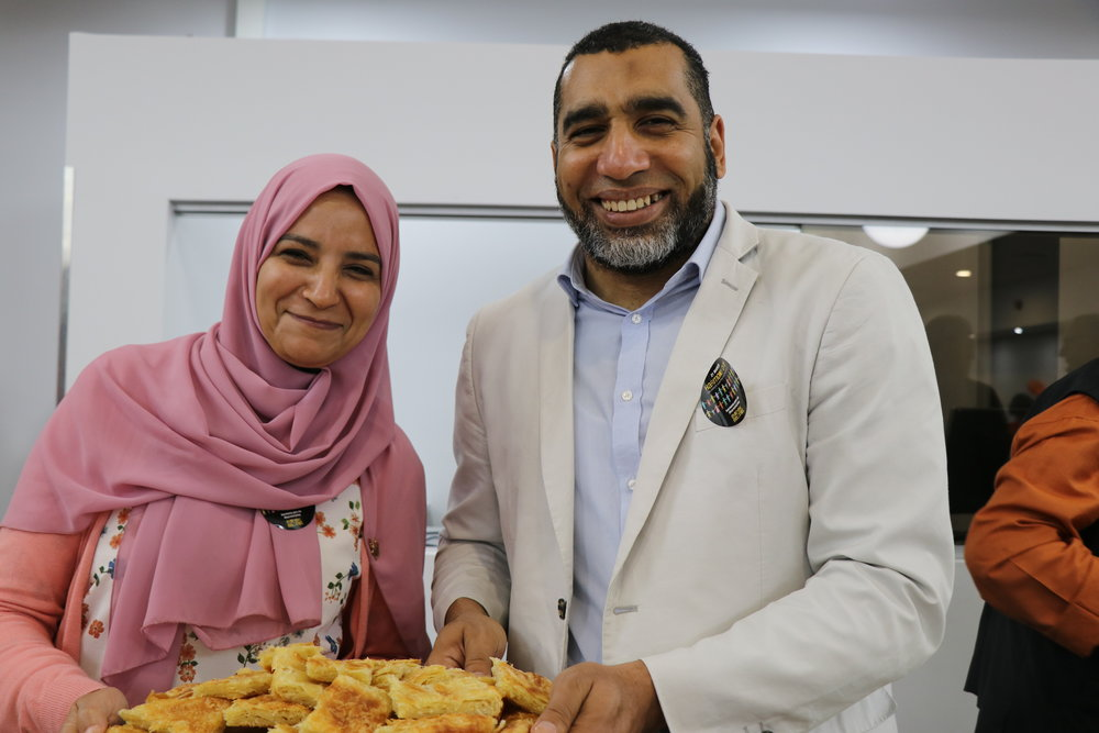 Imam Youssef Hussan and his wife Azza. Image courtesy of Naomi Shore