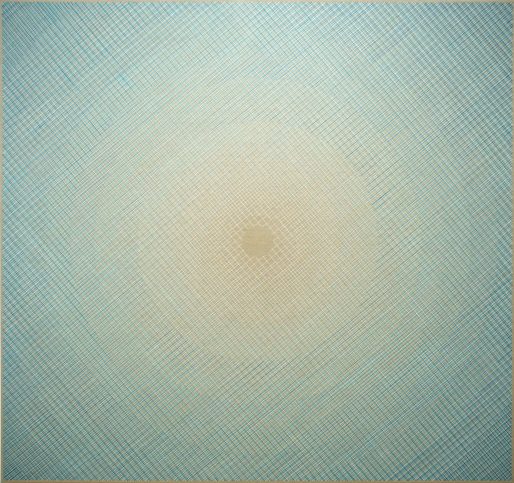 Radiating Space 160x170cm, 2016 Acrylic on canvas