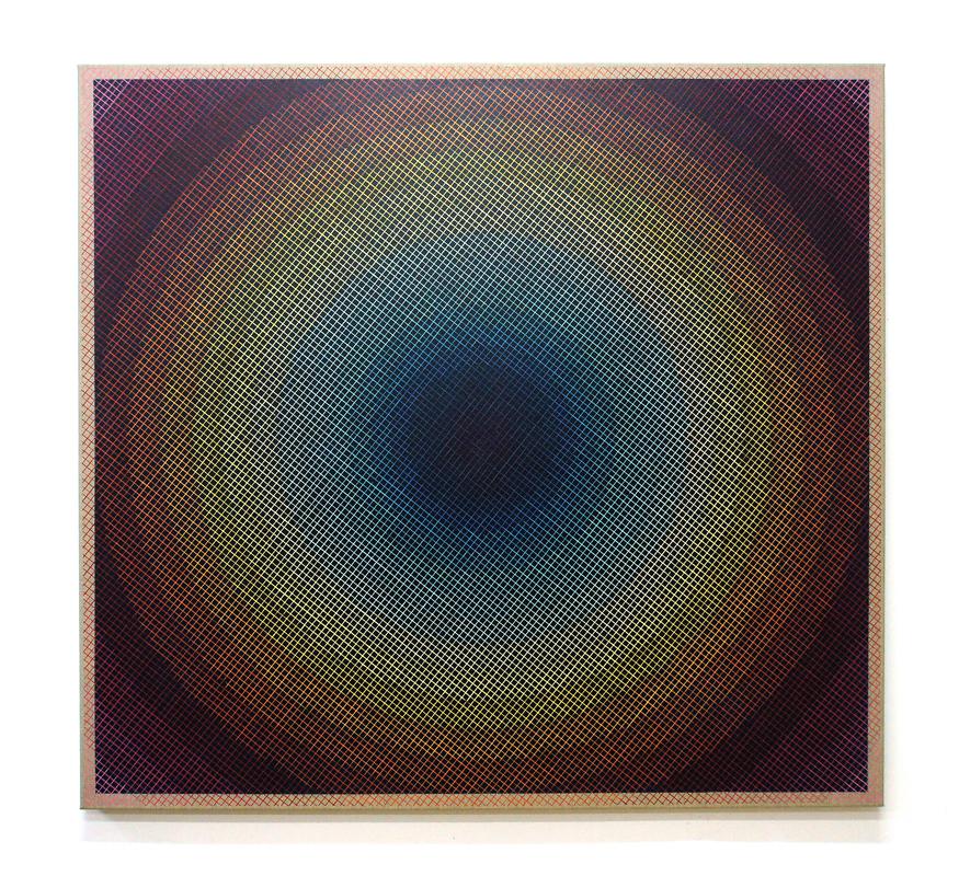 Spatial Resonance 125x135cm, 2016 Acrylic on canvas