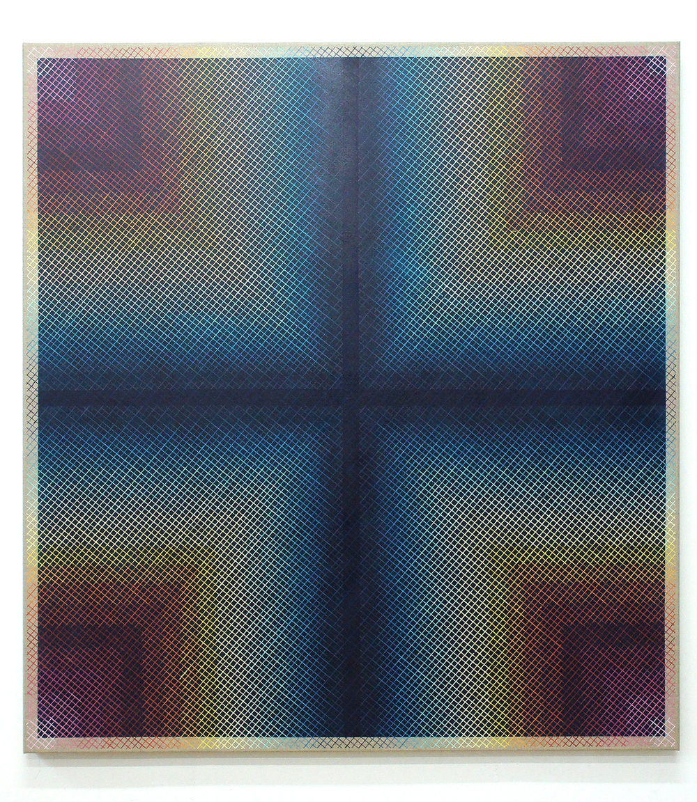 Revealing Futures 135x125cm, 2016 Acrylic on canvas