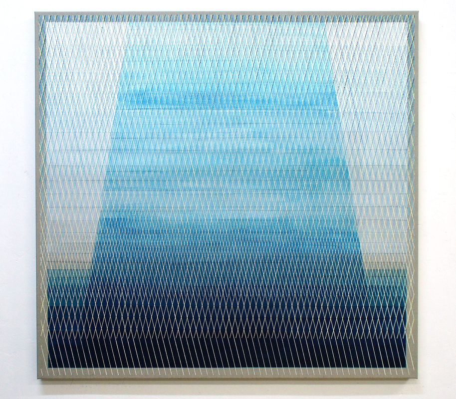 Monolith 125x130cm, 2017 Acrylic on canvas