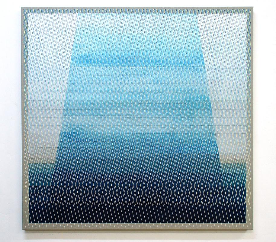 Monolith 125x130cm, 2017 Acrylic on canvas