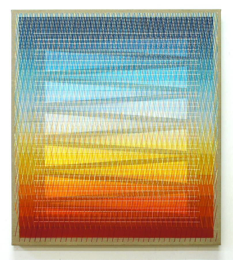 Elusive Monolith 90x80cm, 2017 Acrylic on canvas