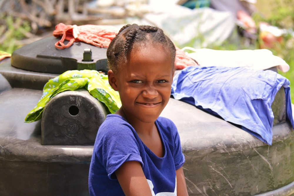 A kid in a village just outside of Port-au-Prince