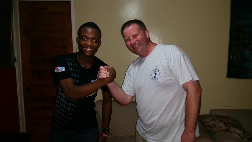 Meet Juloveney. He's a nursing student in Haiti.