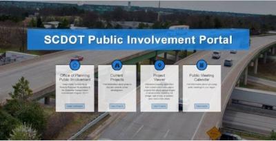Click to visit SCDOT's Public Involvement Portal