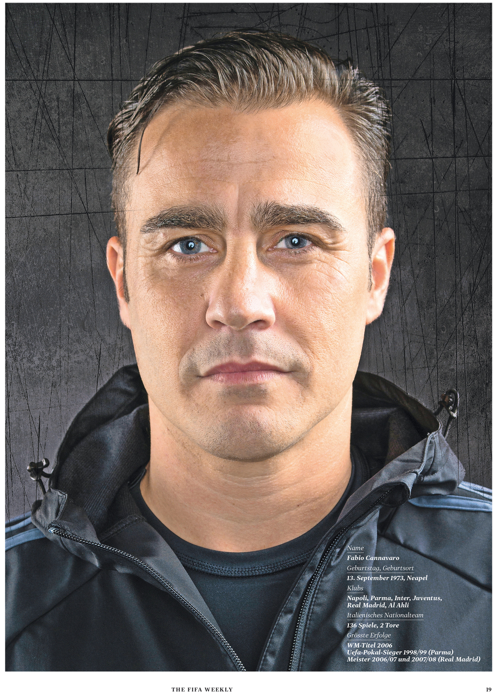 fabio cannavaro for fifa weekly
