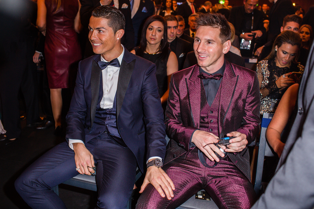 Ronaldo und Messi an der FIFA Ballon d'or fotografiert von David Biedert