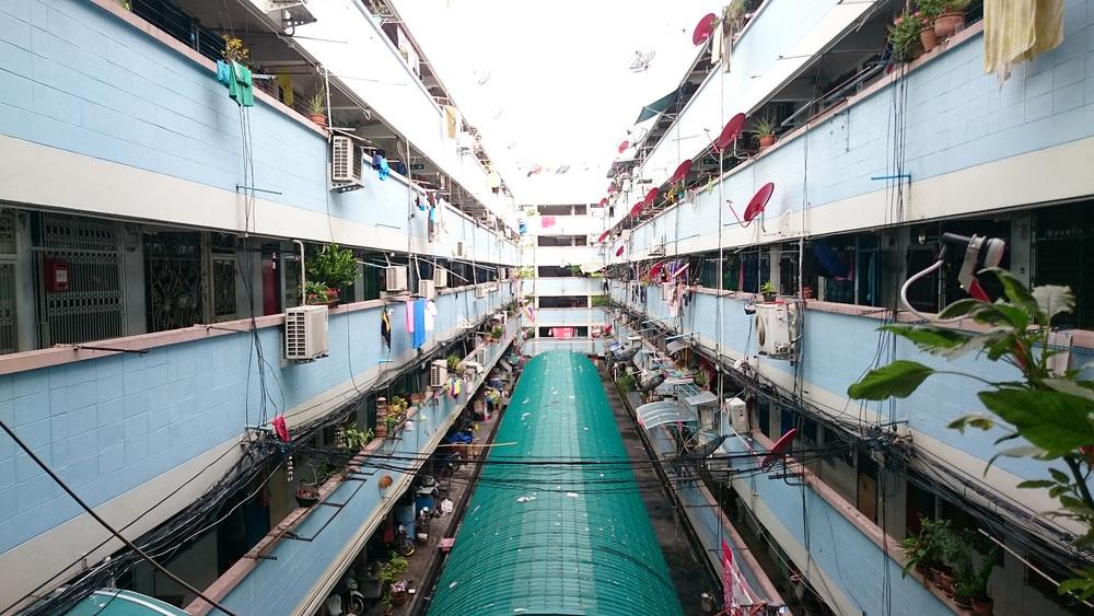Ein typischer Block im Quartier Ding Deng in Bangkok