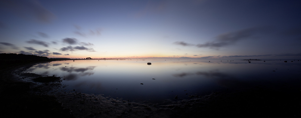 Panorama im Norden der Insel Öland - fotografiert um ca. 2.30 Uhr am in Dödevi.