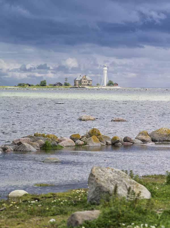 Högby fyr -ein bekannter Leuchtturm im Norden der Insel Ölands.