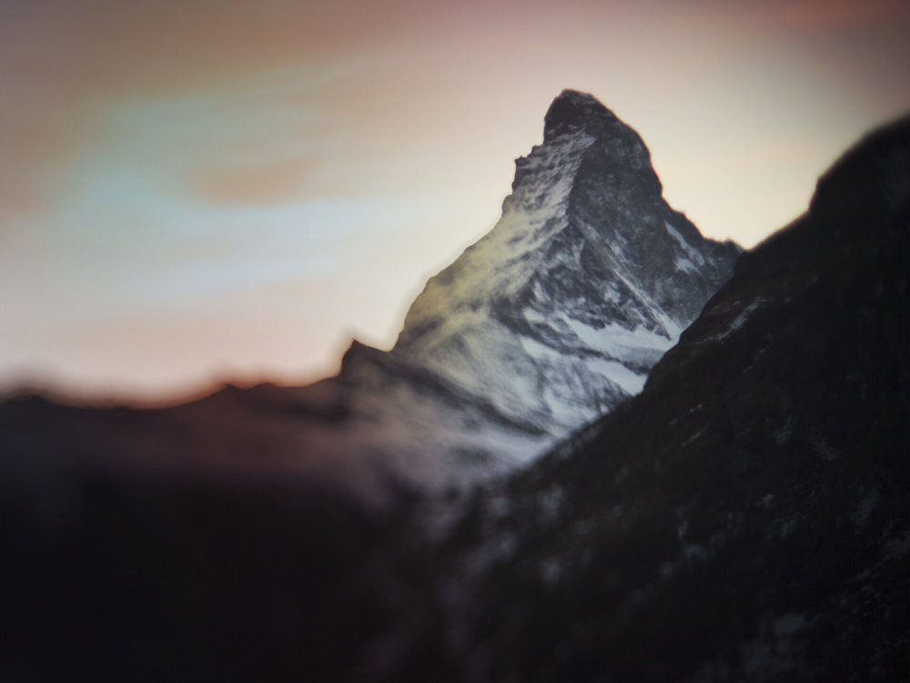 ...hatte uns immer im Auge ;-): das Matterhorn.