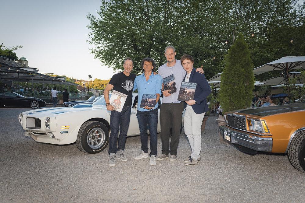 Das Motorheads Team: Remo Neuhaus, Denis Jeitziner, Mitch Haussener & Gabriel Palacios (Cameo Verlag).