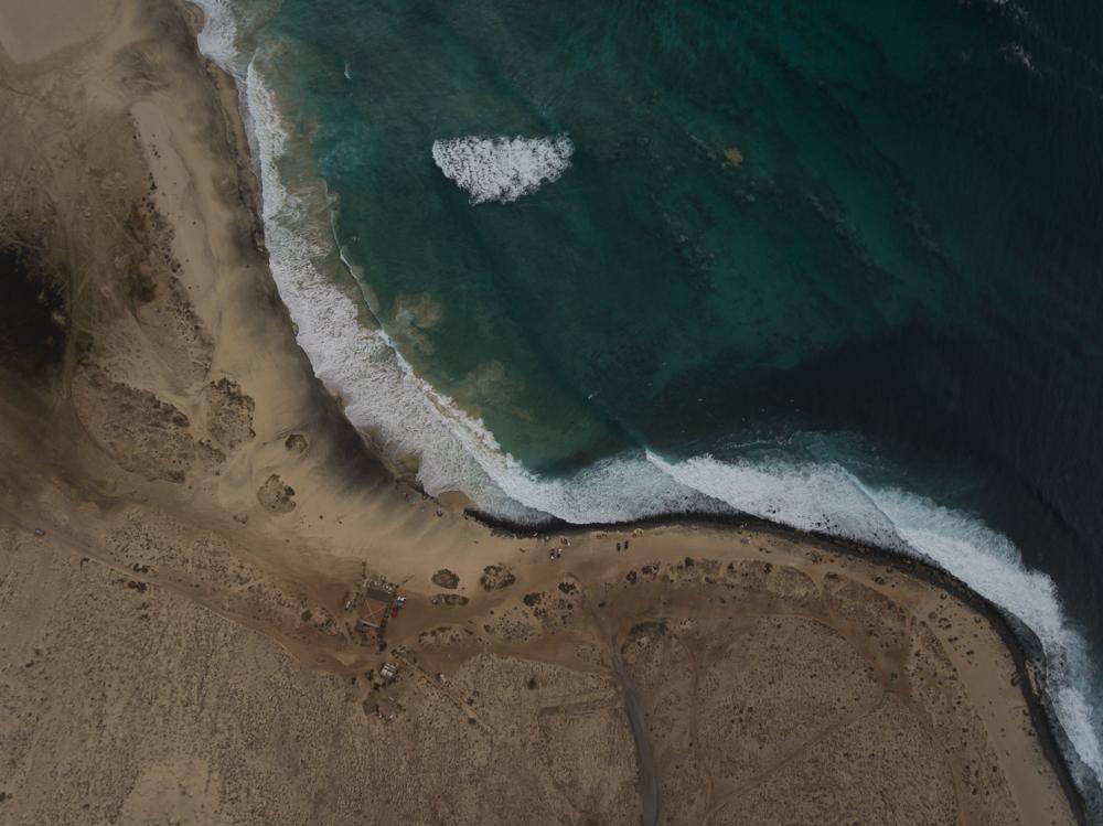 ...die Drohne im wunderschönen Meer von Cabo Verde :-)....